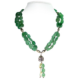 Green Aventurine Necklace 'Charmed Forest'