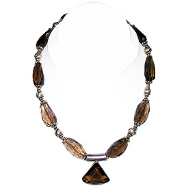 Smoky Quartz Necklace 'Mystery'