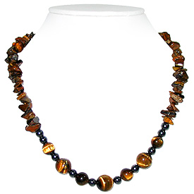 Tiger Eye Necklace 'Garland'