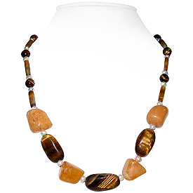 Tiger Eye and Jyde Necklace 'Harmony'