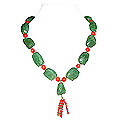 Carnelian and Green Aventurine Necklace 'Life'