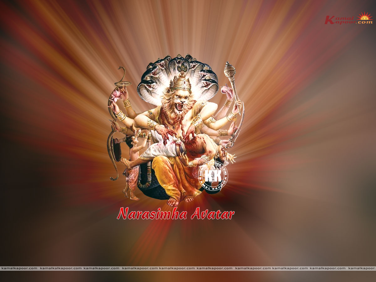 Narasimha avatar send this wallpaper to a friend