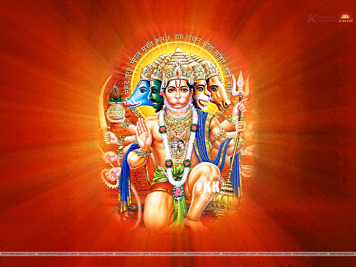 Panchmukhi Hanuman Wallpaper | Send this Wallpaper to a Friend