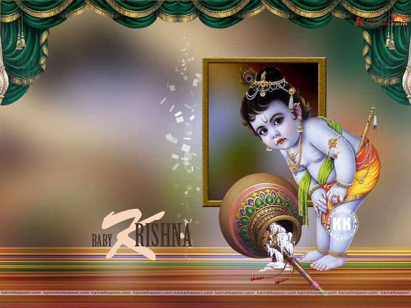 Baby Krishna Wallpaper