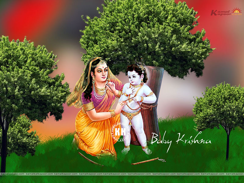 Baby Krishna Full Screen Wallpapers Free