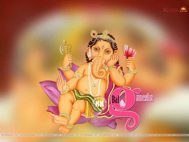 Bal Ganesha Wallpaper